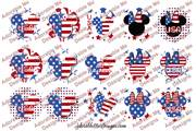 Patriotic Mouse Variety Patterns