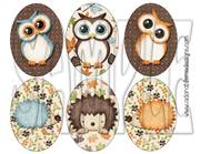 Fall Critters Oval Shrinky Dink Image