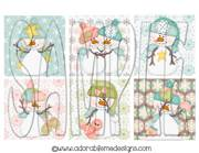 Let It Snow Square Shrinky Dink Images