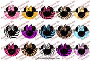 Mouse Bow Animal Print 2