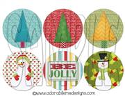 Be Jolly Round Shrinky Dink Image