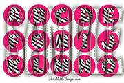 Hot Pink Zebra Full Alphabet